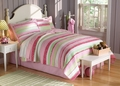 Anna's Ruffle Pink Quilt and Pillow Sham