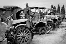 Antique Car Graveyard Wall Art