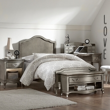 Pewter Charlene Panel Bed