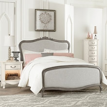 Pewter Adalene Upholstered Bed