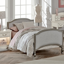 Pewter Upholstered Twin Bed