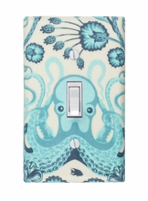 Aqua Octopus Light Switch Plate Cover