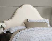 Arch Nail Button Upholstered Headboard