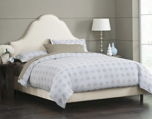 Arch Nailhead Upholstered Bed
