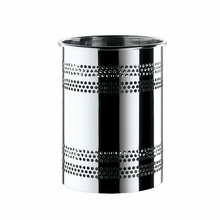 Argenta Dots Trash Can in Chrome