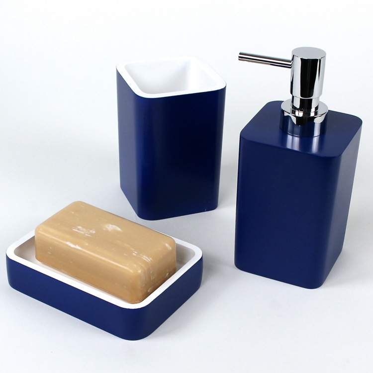 Exceptionnel Arianna 3 Piece Bathroom Accessory Set In Navy