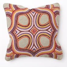 Artista Multi Color Embroidery Throw Pillow