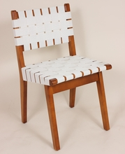 Arvid White Strap Side Chair