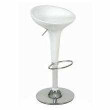 Ashby Bar and Counter Stool in White and Chrome