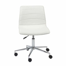 Ashton Office Chair in White and Chrome