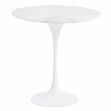 Astrid Marble Side Table in White