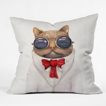 Astro Cat Throw Pillow
