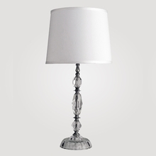 Athens Medium Clear Crystal Table Lamp