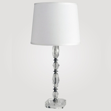 Athens Tall Clear Crystal Table Lamp