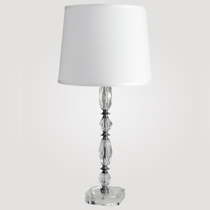 district17 athens tall clear crystal table lamp lamps. Black Bedroom Furniture Sets. Home Design Ideas