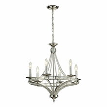 Aubree Chandelier In Polished Nickel