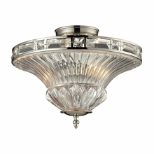 Aubree Semi Flush In Polished Nickel