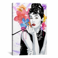 Audrey Flower Color Pop Canvas Wall Art