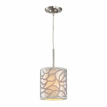 Autumn Breeze Mini Pendant In Brushed Nickel