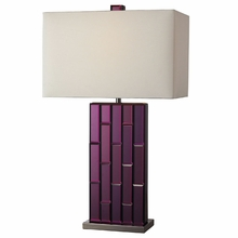 Avalon Purple Mirror Table Lamp in Black Nickel