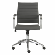 Axel Low Back Office Chair in Gray and Aluminum