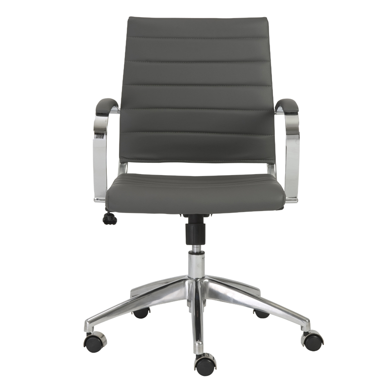 District17 Axel Low Back Office Chair In Gray And Aluminum Chairs Sofas