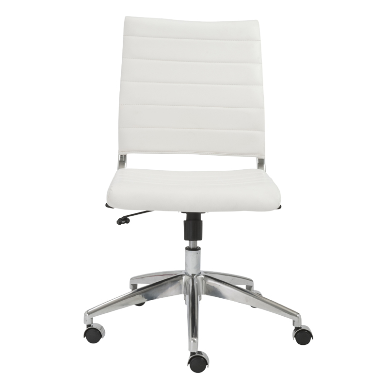 district17: axel low back office chair w and no arms in white and