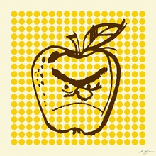 Bad Apple Canvas Wall Art