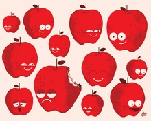 Bad Fruits - Apples Canvas Wall Art
