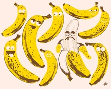 Bad Fruits - Banana Canvas Wall Art