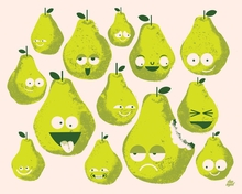 Bad Fruits - Pears Canvas Wall Art