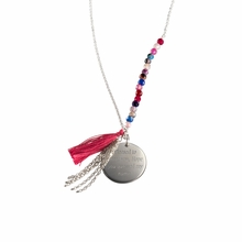 Bahia Pendant Pink and Silver