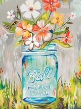 Ball Perfect Mason Jar Canvas Wall Art