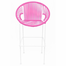 Bar Height Puerto Stool - Pink Weave