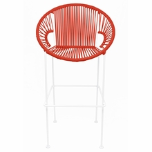 Bar Height Puerto Stool - Red Weave