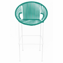 Bar Height Puerto Stool - Turquoise Weave
