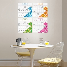 Bargello Waves 4-Piece Dry-Erase Calendar
