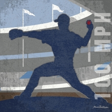 Baseball 100 MPH Pitcher Canvas Wall Art