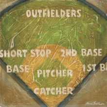 Baseball Field Positions Canvas Wall Art