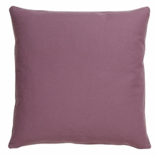 Basic Elements Solid Plum Throw Pillow