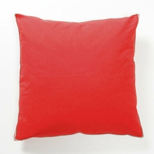 Basic Elements Solid Red Throw Pillow