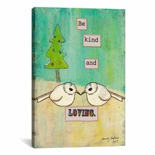 Be Kind and Loving Canvas Wall Art