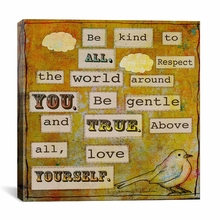 Be Kind To All Canvas Wall Art
