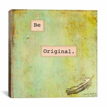 Be Original Canvas Wall Art