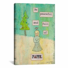 Be Peaceful and Full of Faith Canvas Wall Art