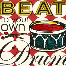 Beat to Your Own Drum Canvas Art