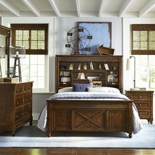 Beauregard Vista Point Bookcase Bed