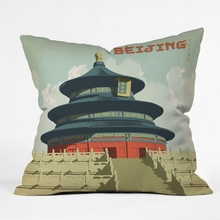 Beijing Throw Pillow