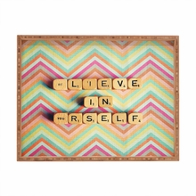 Believe in Yourself Rectangle Tray