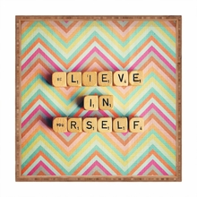 Believe in Yourself Square Tray